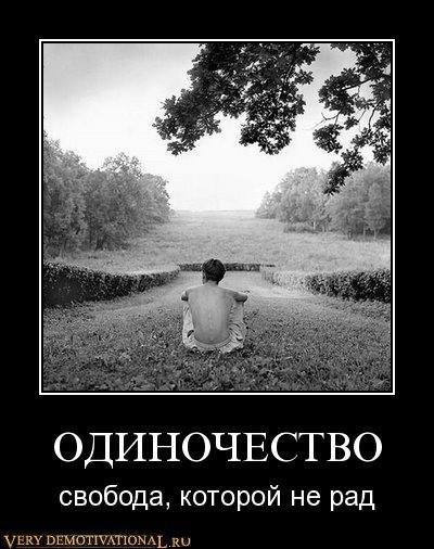 Демотиваторы по русски → одиночество